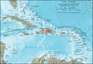 Map of the Caribbean courtesy of U.S. Central Intelligence Agency (CIA).
