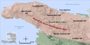 Northern Haiti's Massif du Nord metallogenic belt. Image courtesy of Eurasian Minerals.