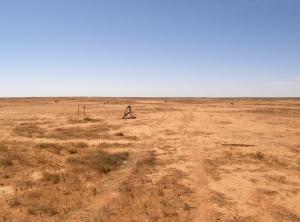 Trial well field for in-situ recovery at Honeymoon, South Australia. Image courtesy of Geomartin.