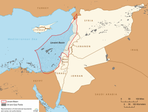 Map of the Levant Basin.