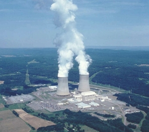 Nuclear power plant in Pennsylvania, United States.