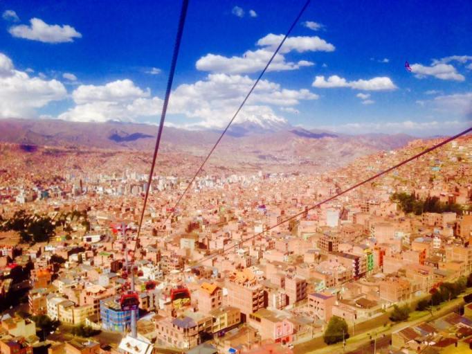 The cable car to El Alto.