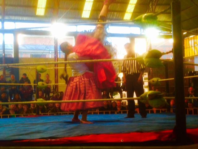 Cholita wrestling.