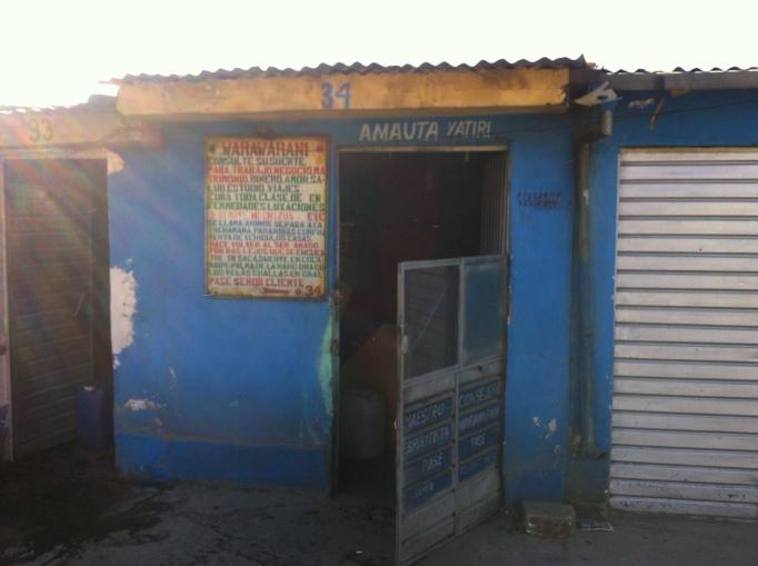 Shaman's hut.